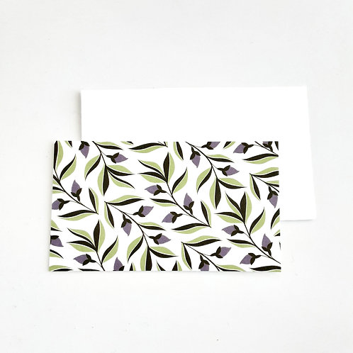 Mini Note Cards, Purple Buds