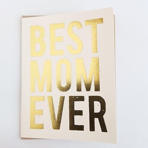 Best Mom Ever metallic gold