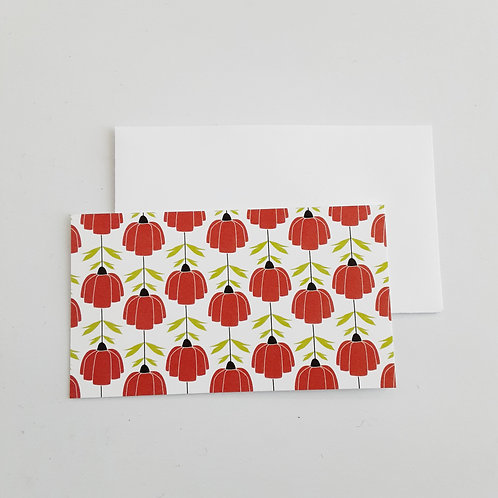 Mini Note Cards, Red Poppy