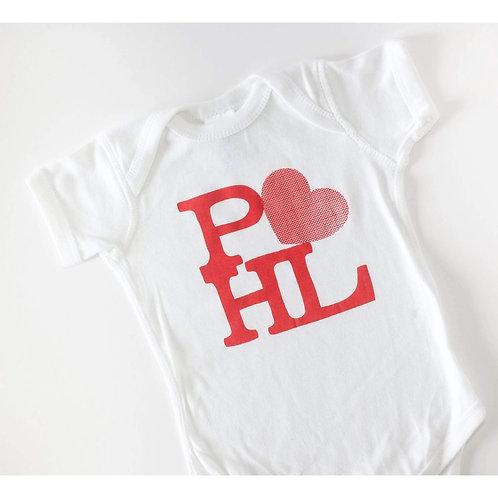 PHL Heart Onesie