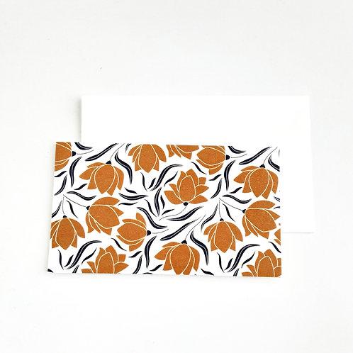Mini Note Cards, Rust Rose