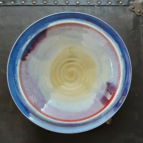 """Purple/Cream 10"""" Bowl"""