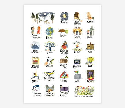 ABCs of Life Print