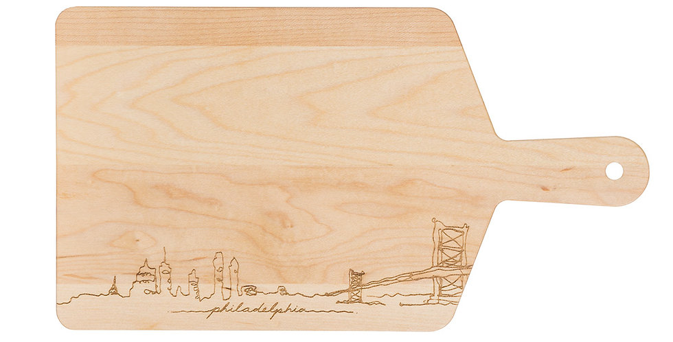 Philly Skyline Cutting Board