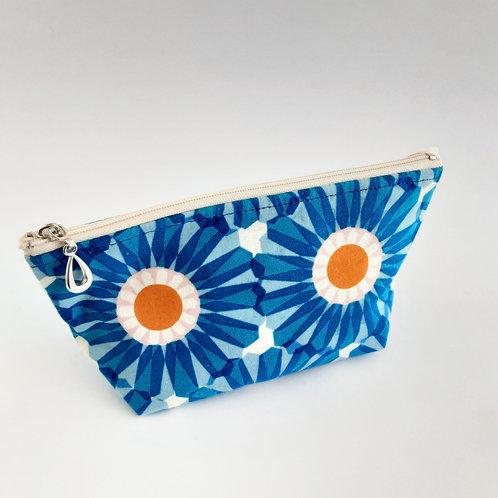Cosmetic Bag- Blue Daisy