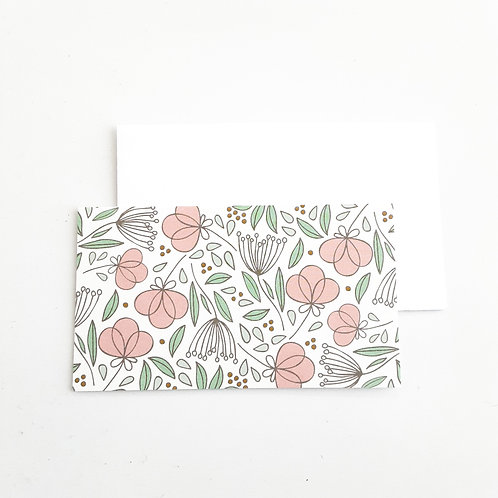 Mini Note Cards, Pink Loopy