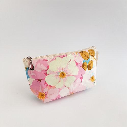 Cosmetic Bag-Pink Floral