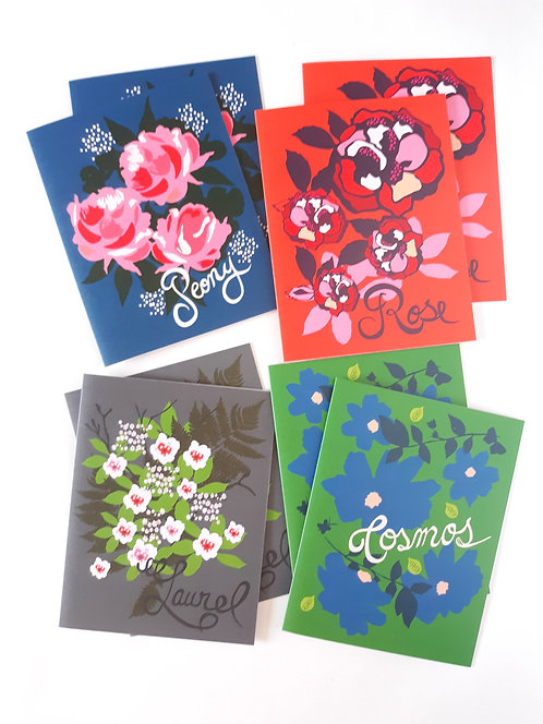 Box of 8 Floral Note Cards