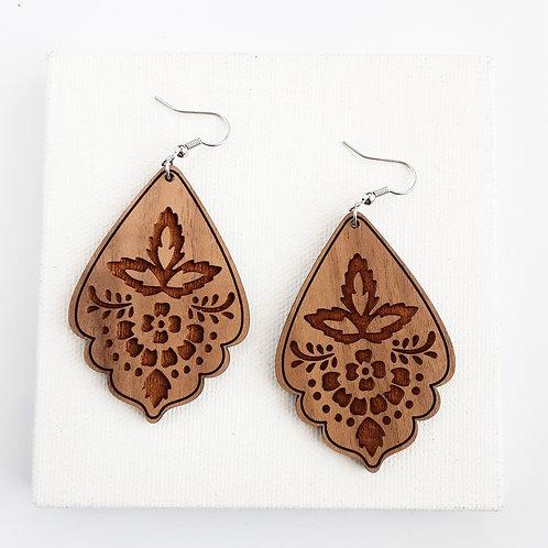 Damask Scalloped Earrings