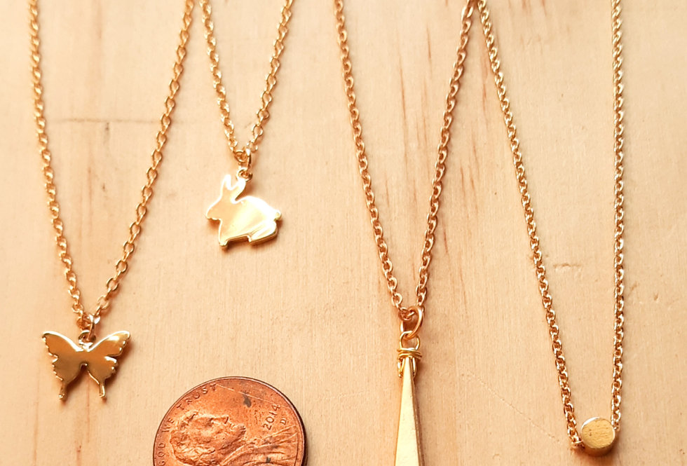 Little Gold Necklaces by Rebecca
