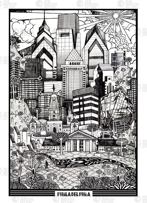 Philly Skyline Print by Paul Carpenter