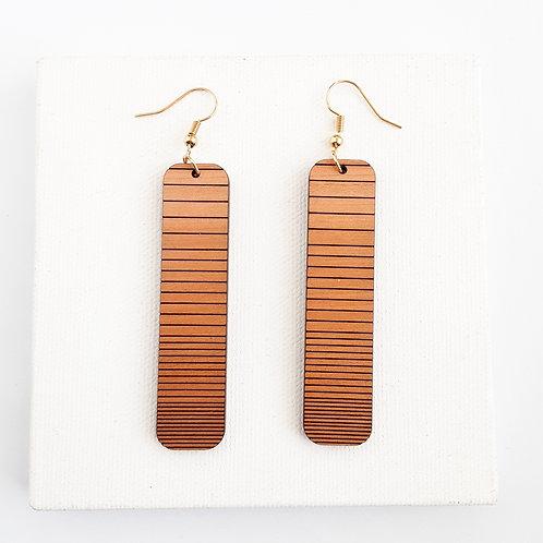 Oblong Striped Earrings