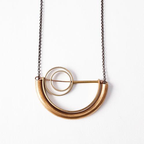 Circles & Semicircles Necklace