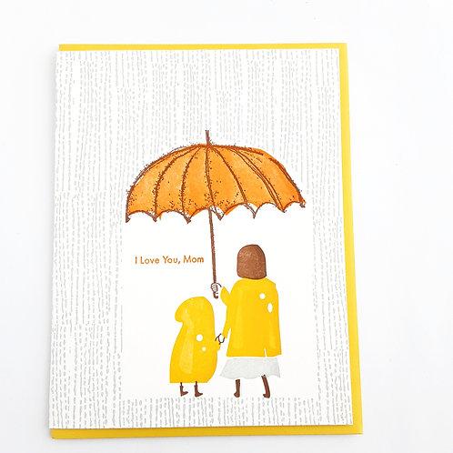 I Love You Mom orange umbrella