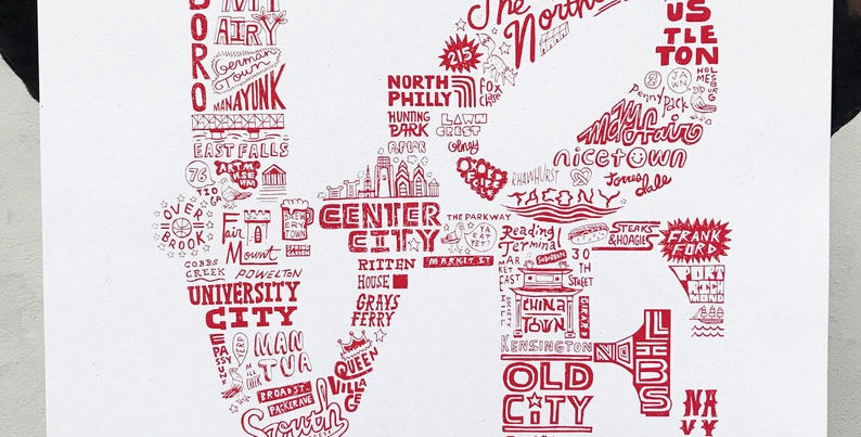 Philly LOVE Print by Paul Carpenter