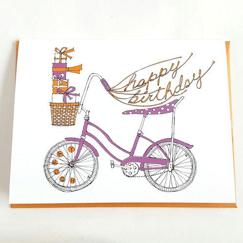 Pink banana bike