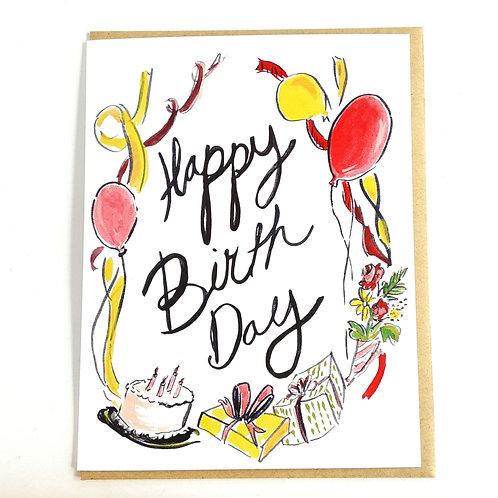 Happy Birth Day w. balloons