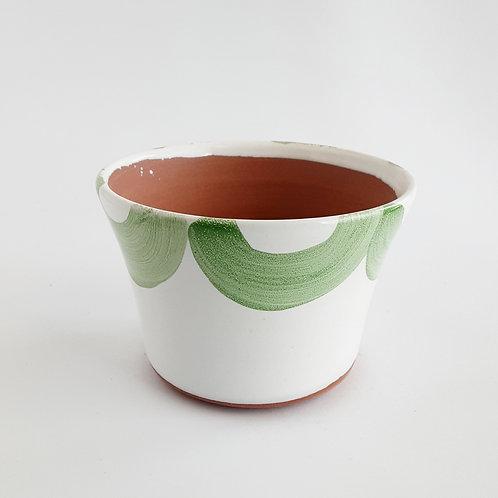 "Green Scalloped 4"" Planter"