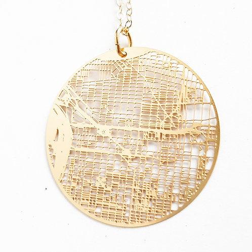 Philadelphia Map Necklace