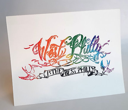 "Rainbow ""West Philly"" Card, Set of 2"