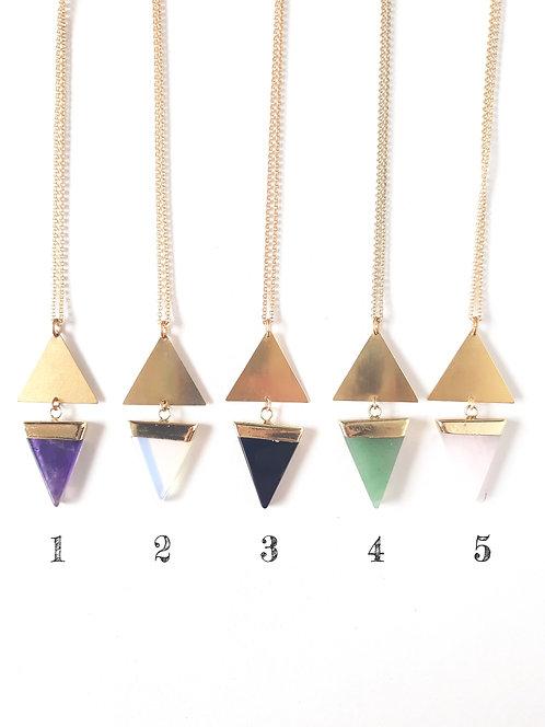 Image of 5 Different Triangular Pendants