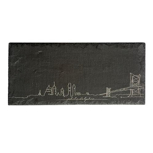 Philly Skyline Slate Cheeseboard
