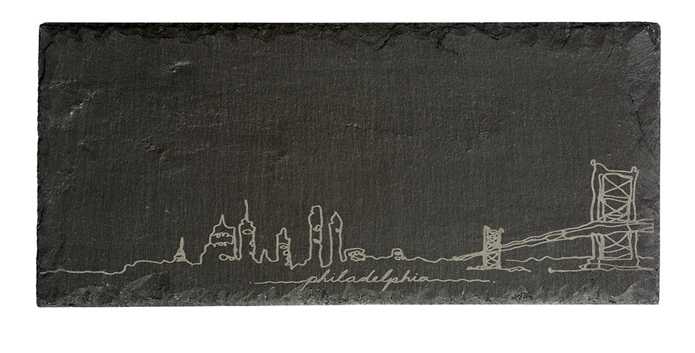 Philly Skyline Slate Cheeseboard