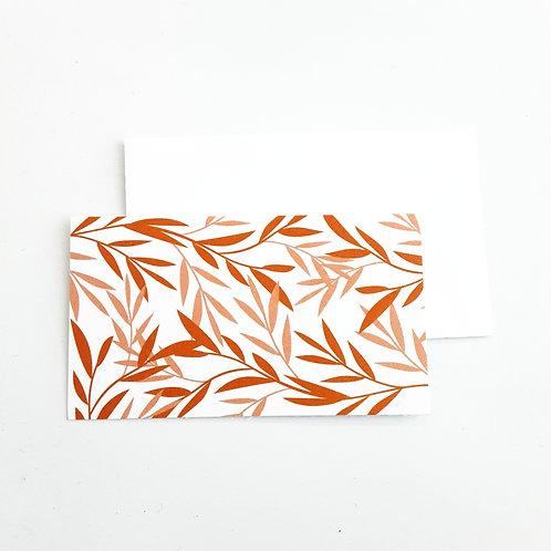Mini Note Cards, Orange Leaves