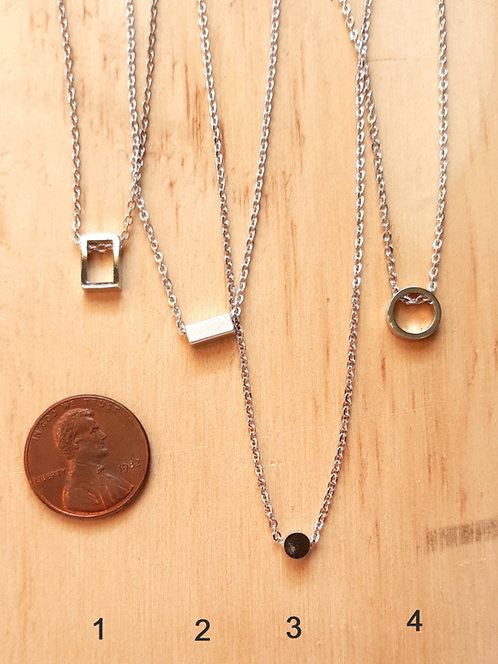 Little Silver Necklaces by Rebecca