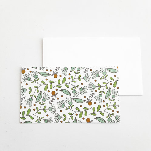 Mini Note Cards, Red Berries
