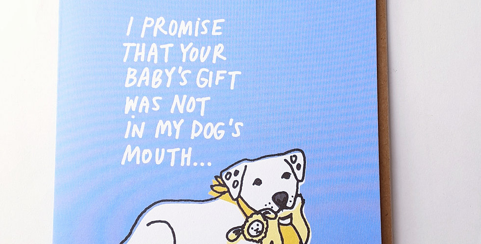 Baby's Gift in Dog's Mouth
