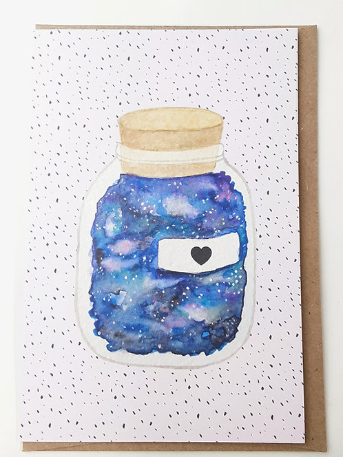 Galaxy Jar Card by Stitch Prism