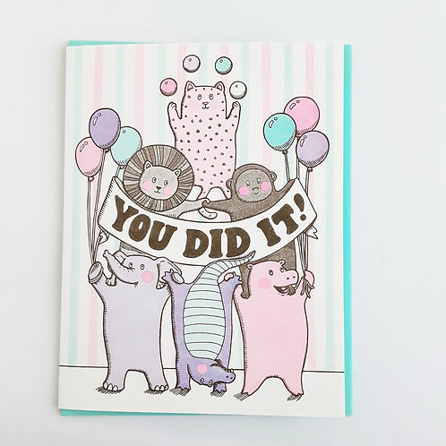 You Did It! animals & balloons