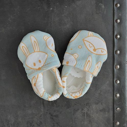 Baby Shoes- Fox & Bunny