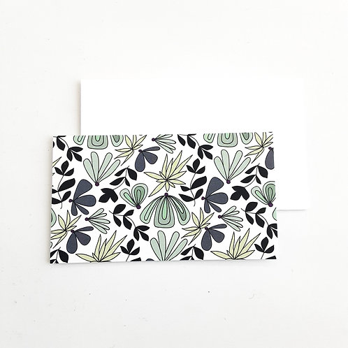 Mini Note Cards, Green Loopy
