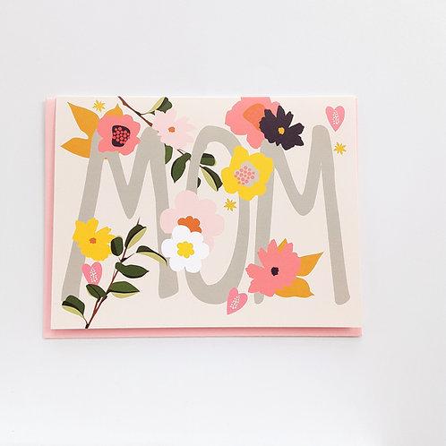 MOM floral on blush (EG)