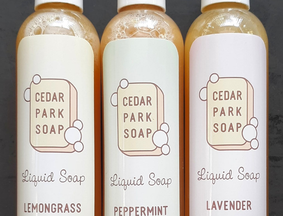 CEDAR PARK SOAP Liquid Soap or Lotion