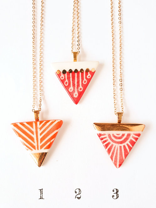 Luster Necklaces by Threet Ceramics