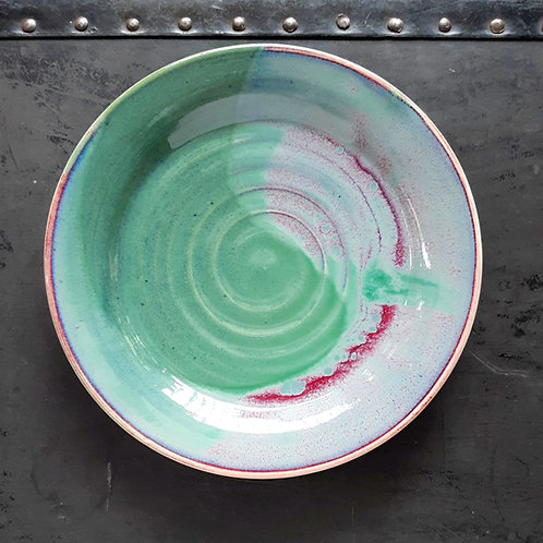 """Green/Red 9"""" Plate"""