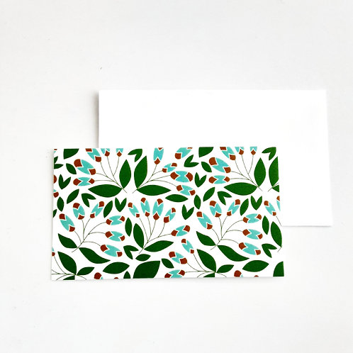 Mini Note Cards, Turquoise/Red