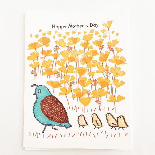 Happy Mother's Day quails