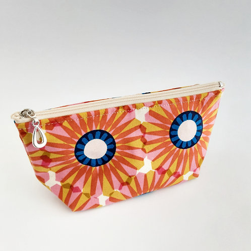 Cosmetic Bag- Red Daisy