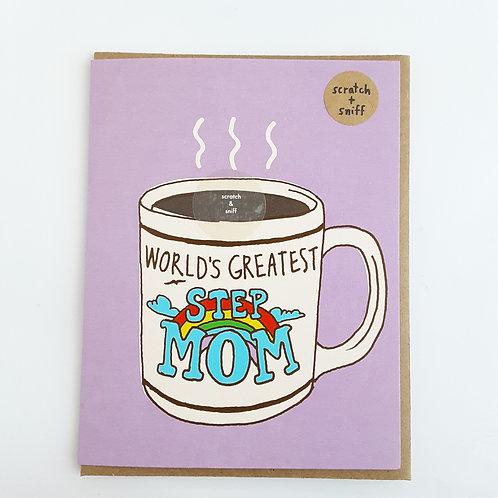 World's Greatest Step Mom coffee scent
