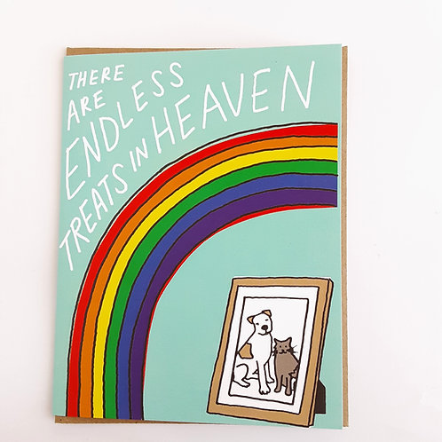 There are Endless Treats in Heaven pet sympathy