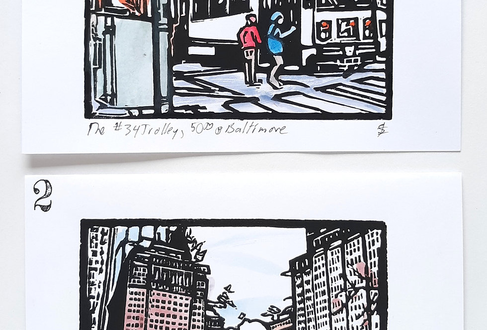 Block Print Note Cards by Suzanne Francis