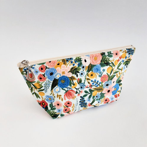 Cosmetic Bag- Blue/Pink Floral