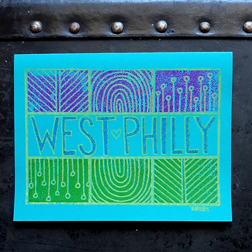 """West Philly"" Note Card, Set of 2"