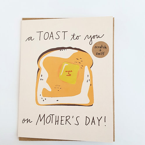 A Toast to You on Mother's Day butter scented