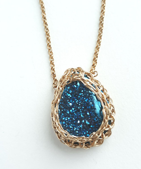 Netted Gemstone Necklaces by Precious Meshes