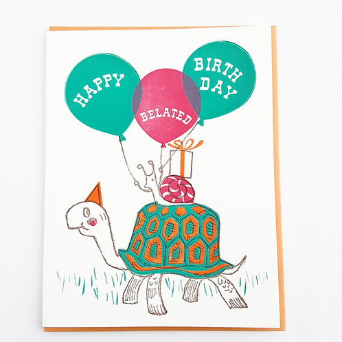 Belated Birthday turtle & snail